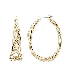 Napier® Large Braided Hoop Earrings