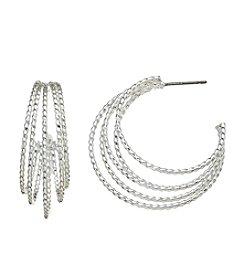 Napier® Multi Layered Hoop Earrings