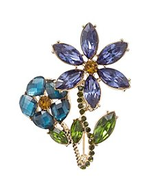 Napier® Boxed Double Flower Pin