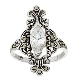 Glamour Rings Marquise Cubic Zirconia Ring