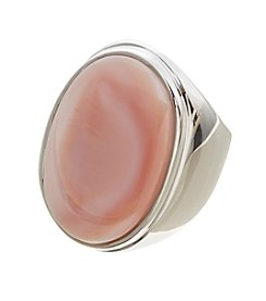 Glamour Rings Large Oval Mother Of Pearl Ring
