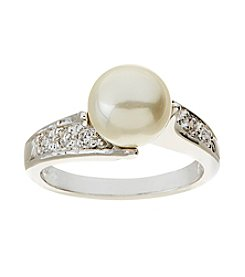 Glamour Rings Glass Pearl Ring
