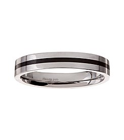 Glamour Rings Stainless Steel Band With Stripe