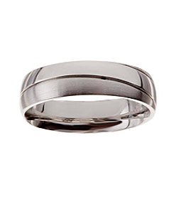 Glamour Rings Stainless Steel Band With Shiny And Brushed Finishes