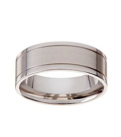 Glamour Rings Stainless Steel Band With Brushed Finish