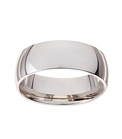 Glamour Rings 8mm Classic Shiny Stainless Steel Band