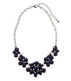Studio Works® Silvertone Floral Frontal Necklace