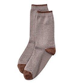 Cuddl Duds® Micro Texture Crew Socks