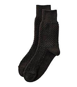 Cuddl Duds® Honeycomb Crew Socks