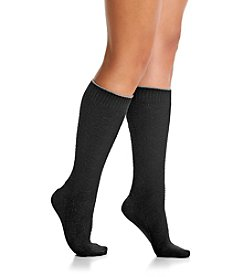 Cuddl Duds® Diamond Texture Knee High Socks