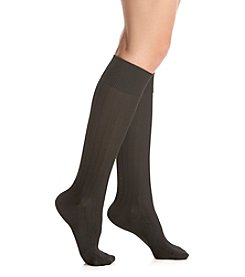 Cuddl Duds® So Soft Solid Knee High Socks