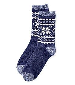Cuddl Duds® Fair Isle Crew Sock