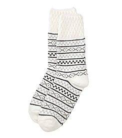 Cuddl Duds® Fair Isle Crew Socks