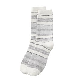 Cuddl Duds® High Low Multi Stripe Crew Socks