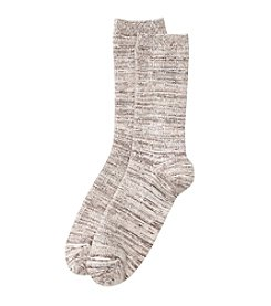 Cuddl Duds® Ribbed Space Dyed Crew Socks