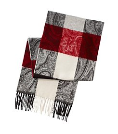 V. Fraas Paisley Block Scarf