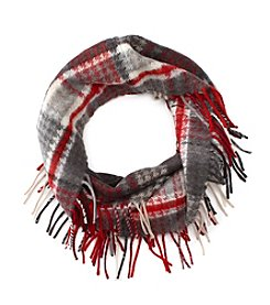 V. Fraas Houndstooth Loop Scarf