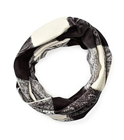 V. Fraas Paisley Block Loop Scarf