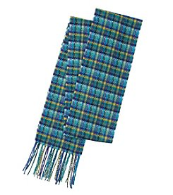V. Fraas Houndstooth Long Skinny Scarf