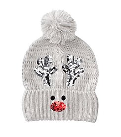 Collection 18 Reindeer Beanie With Sequins