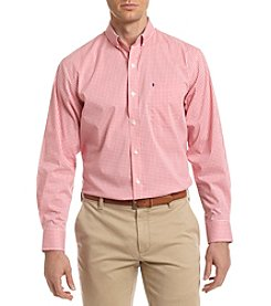 Izod® Men's Long Sleeve Button Down Gingham Shirt