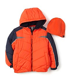 Hawke & Co. Boys' 2T-7 Puffer Jacket With Hat