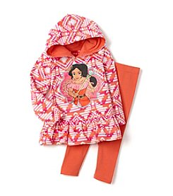 Disney® Girls' 2T-4T 2-Piece Princess Elena Hoodie and Leggings Set