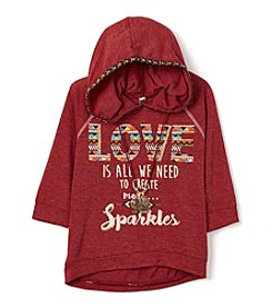 Beautees Girls' 7-16 Create More Sparkles Hoodie