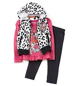 Paw Patrol Girls' 2T-4T 3-Piece Paw Patrol Vest Set