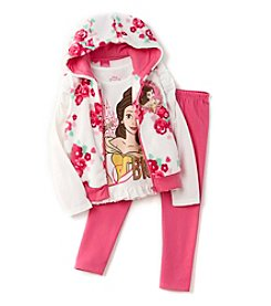 Disney Princess® Girls' 4-6X 3-Piece Belle Vest Set