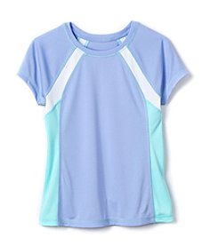 Exertek® Girls' 7-16 Short Sleeve Colorblock Tee