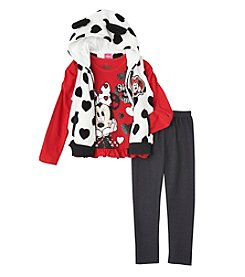 Disney® Girls' 2T-6X 3-Piece Minnie Mouse® Happy To Be Me Vest Set