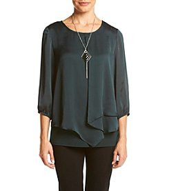 AGB® Asymmetrical Front Top With Necklace