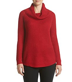 AGB® Chunky Lurex Cowl Neck Sweater