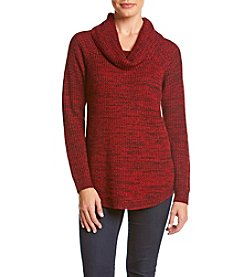 AGB® Chunky Marled Cowl Neck Sweater