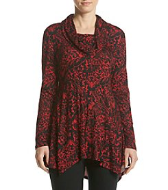 Cupio Printed Cowl Neck Tunic