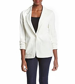 Chelsea & Theodore® Ruched Sleeve Blazer