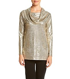 Chelsea & Theodore® Shiny Cowlneck Top