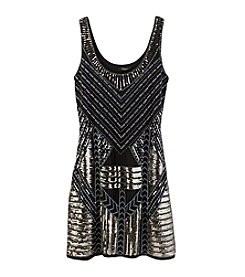 Cupio Printed Sequin Dress