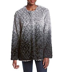 Fever™ Ombre Cresent Faux Fur Cardigan
