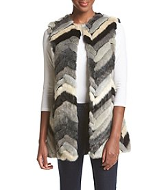Fever™ Multi Chevron Faux Fur Vest