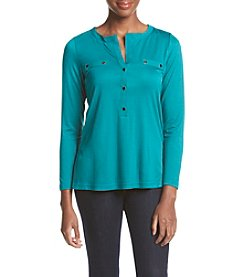 Jones New York® Relaxed Fit Henley Top