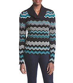 Jones New York® Chevron Print Pullover Sweater