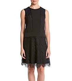 Jones New York® Delicate Lace Mix Media Dress