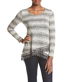 Oneworld® Crochet Trim Top