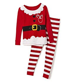 Komar Kids® Girls' 2T-4T 2-Piece Santa Suit Pajama Set