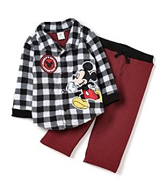 Nannette® Baby Boys' 2-Piece Plaid Shirt and Pants Set
