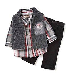Nannette® Baby Boys' 3-Piece Sherpa Vest Set