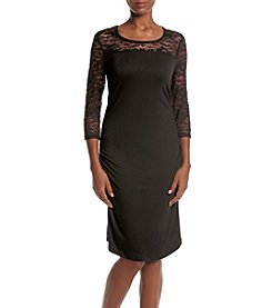 Three Seasons Maternity™ Lace Sleeve & Yoke Dress
