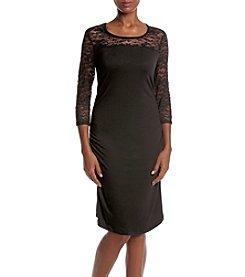 Three Seasons Maternity™ Lace Sleeve & Yoke Dress